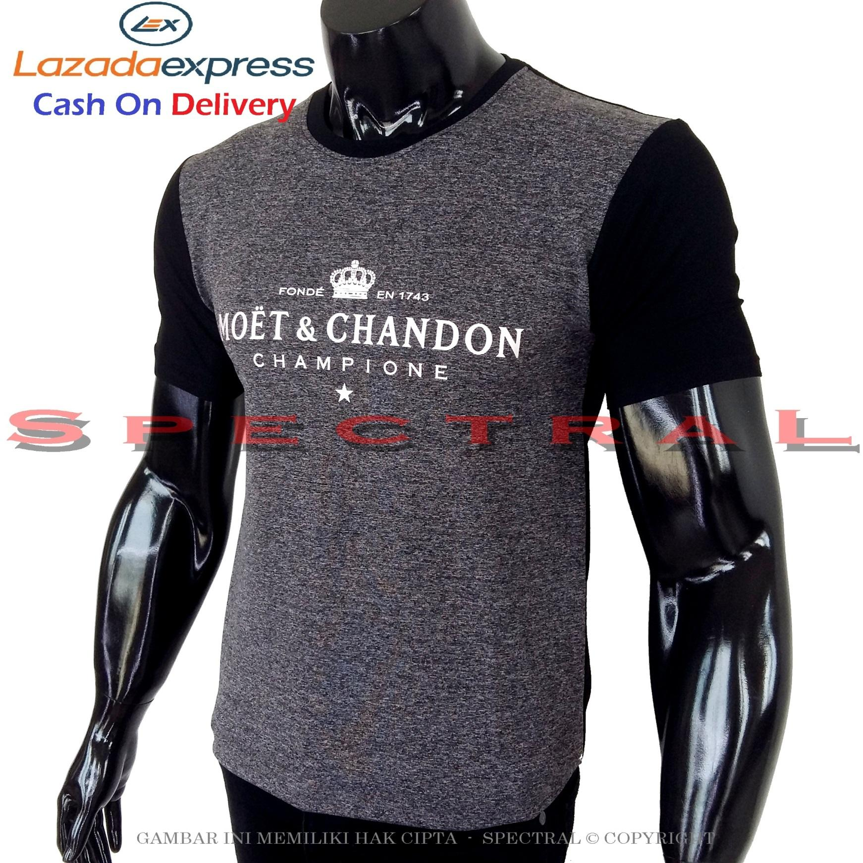 Spectral - Kaos Distro MOET & CHANDON Soft Rayon Viscose Lycra Pola M Fit To L Simple Fashionable T