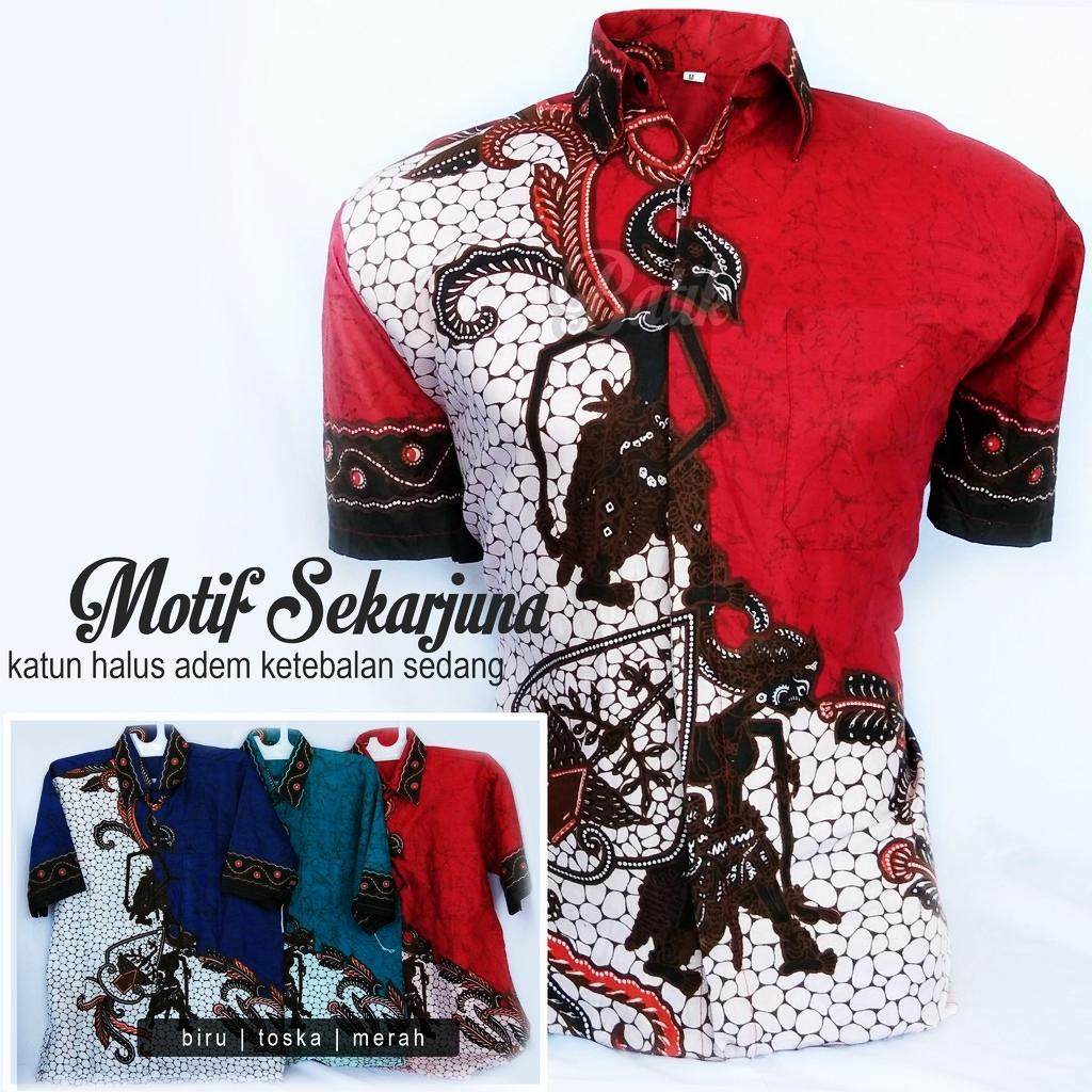 Kemeja Batik Pria Motif Sekar Arjuna   Baju Pria   Baju   Baju Kemeja    Kemeja 43da2acdae