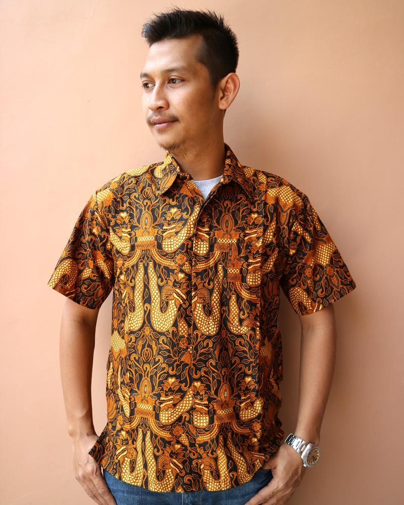 Produk Batik Putri Ayu Terbaru Kemeja Baju Hem Pria Cowok Btk168 Solo Katun Kpd1000 Corak Khas