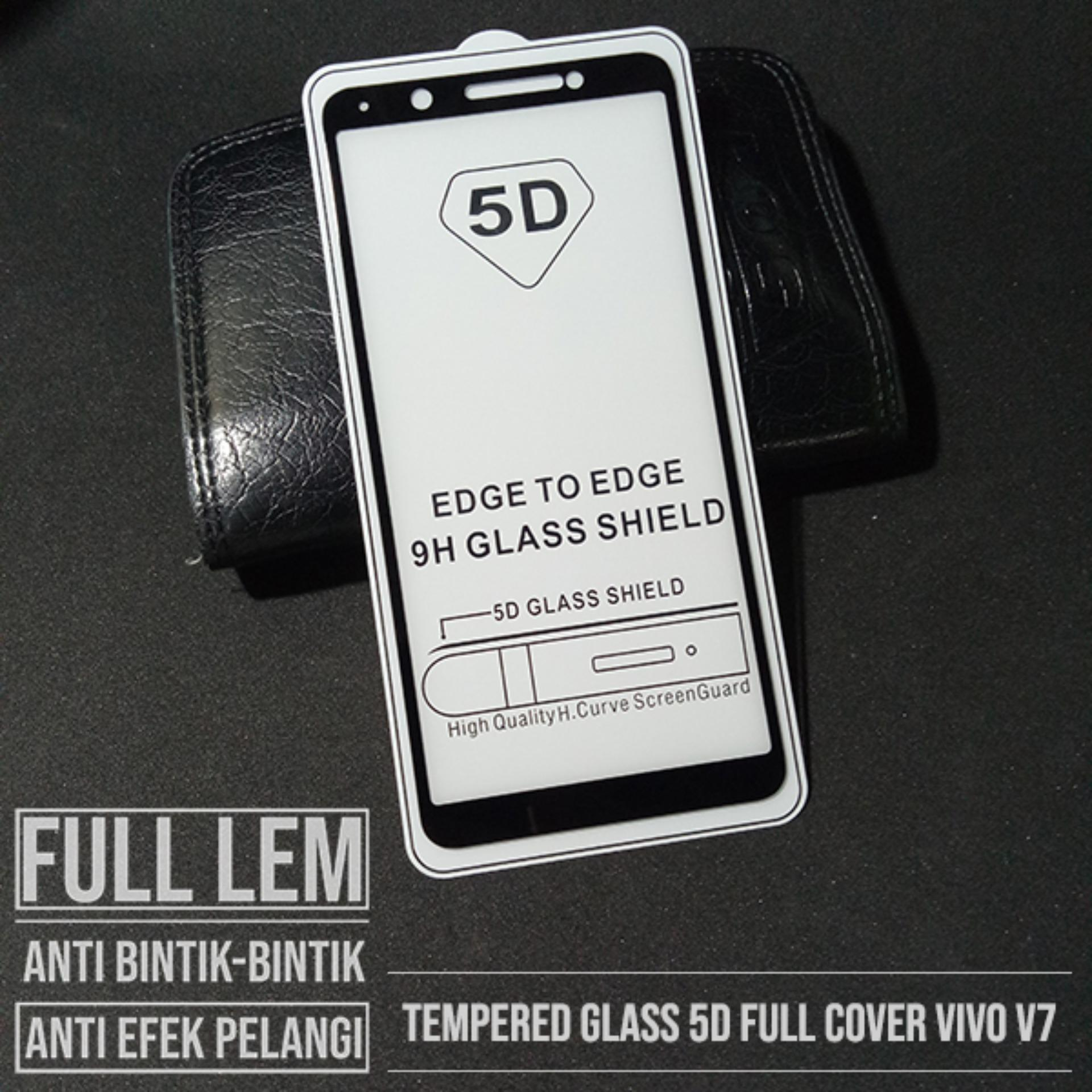 VIVO V7 TEMPRED GLASS 5D FULL COVER SCREEN PROTECTOR ANTI GORES