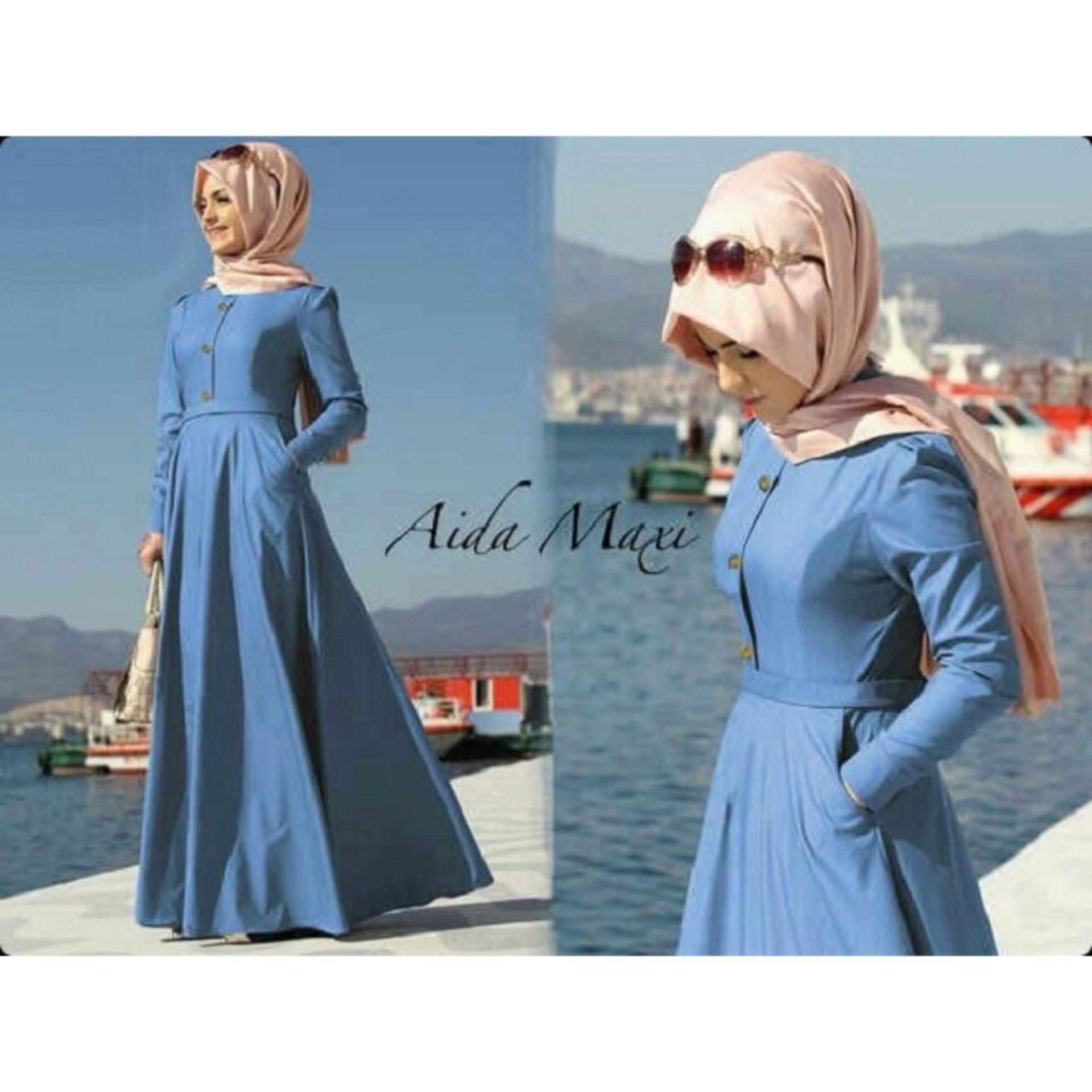Rp 77.150 trendshopee Pakaian Muslim Wanita Hijab Aida Gamis ...