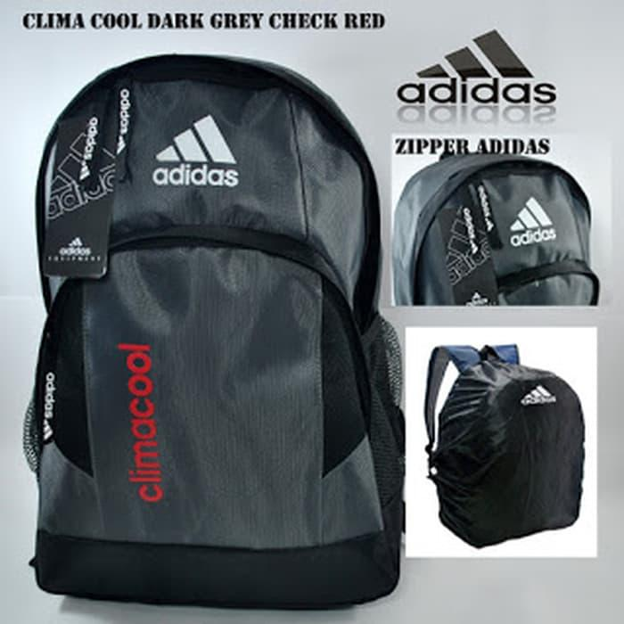 HOT PROMO!!! RANSEL ADIDAS CLIMACOOL DARK GREY RED - tvEzcE