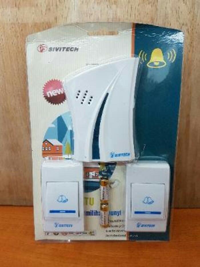 Bell Pintu Wireless 2 Remote Merk Sivitech By Reenan_acc.