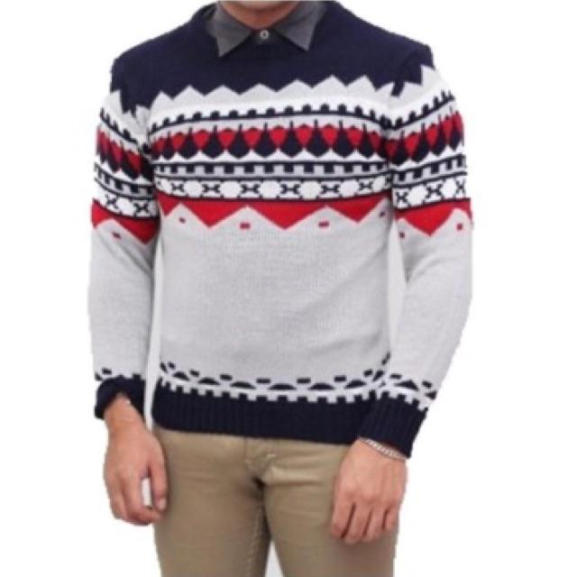 Sweater Rajut Tribal Naza Grey