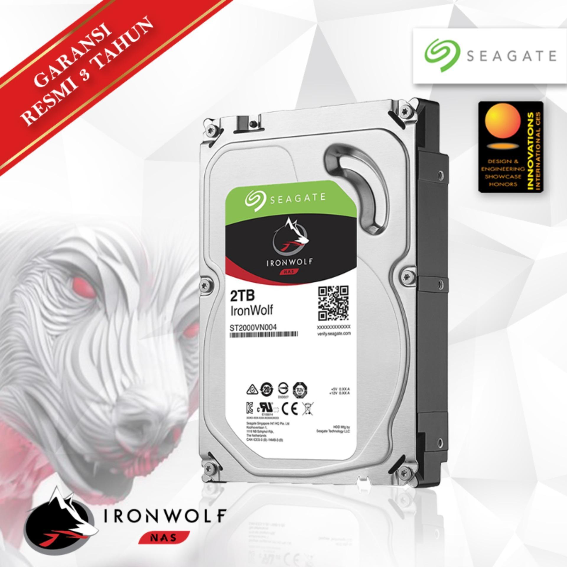 HDD Harddisk Internal PC Desktop Seagate Ironwolf 2TB 3.5 5900RPM - Hardisk Ironwolf series