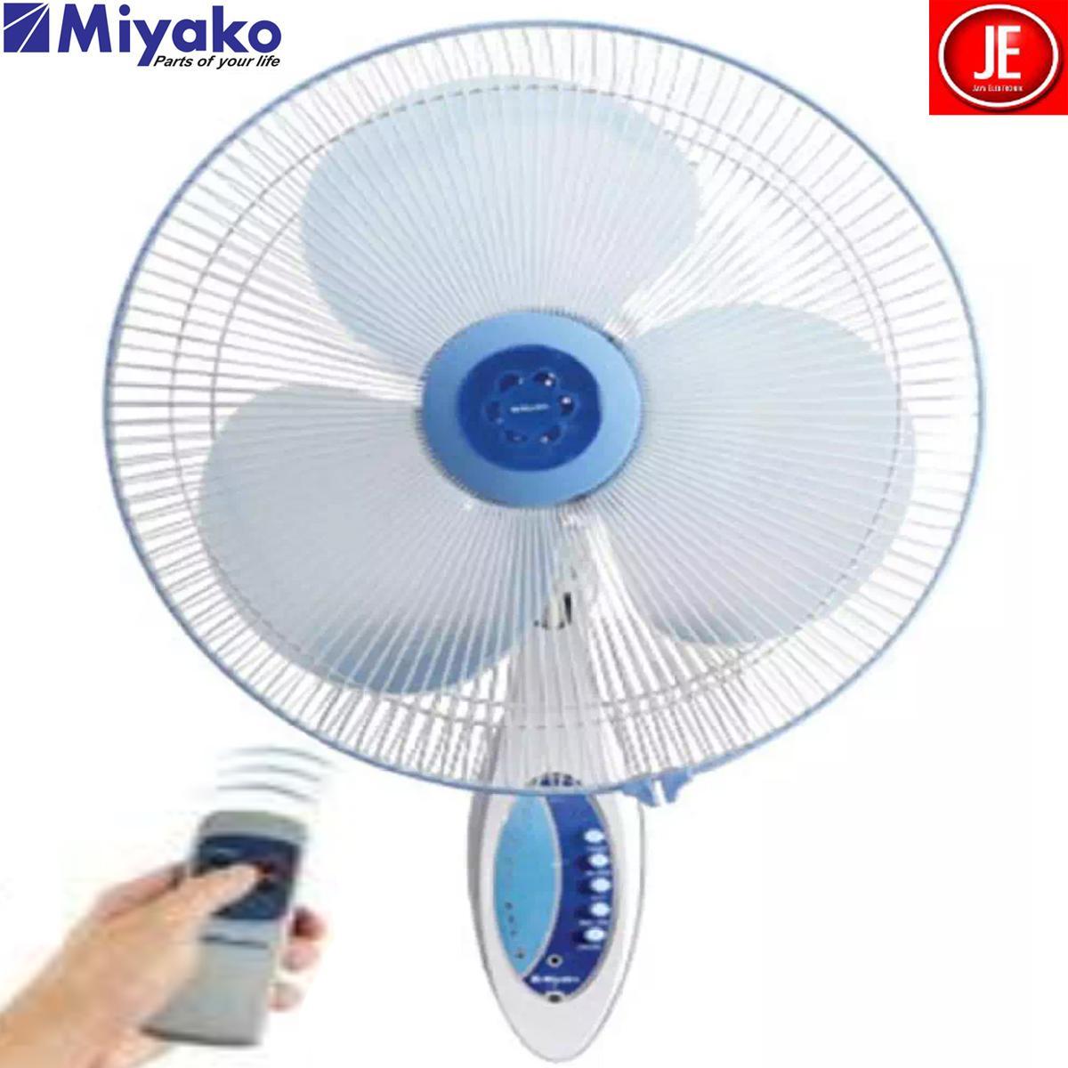 MIYAKO Kipas Angin Dinding Wall Electric Fan Remote KAW-1689 RC garansi resmi