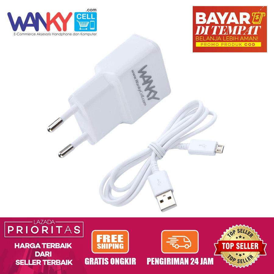 Wanky Travel Charger Moganics Universal Charging & Transfer With Kabel Data For Smartphone Samsung/Oppo/Vivo/Sony/Asus/Xiaomi/Blackberry - Putih