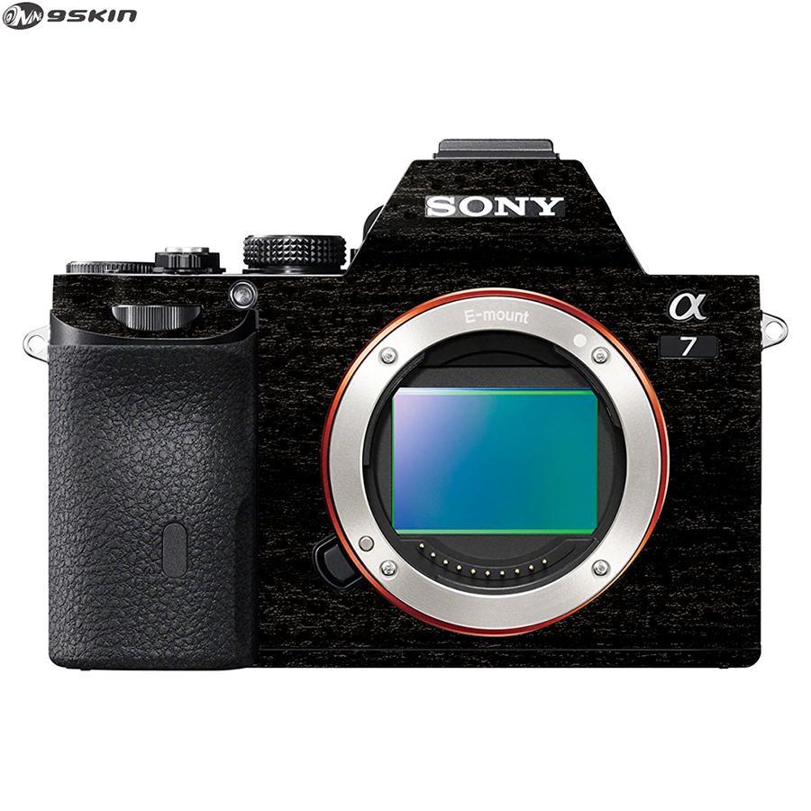 9Skin - Premium Skin Protector untuk Kamera Mirrorless Sony A7 - Tekstur Burned Wood - Hitam