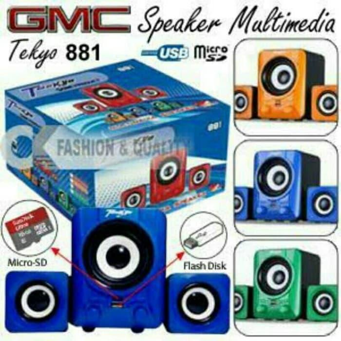 Referensi Speaker Teckyo 881 GMC Murah  ( USB & MICRO SD ) speaker aktif / speaker laptop / speaker super bass