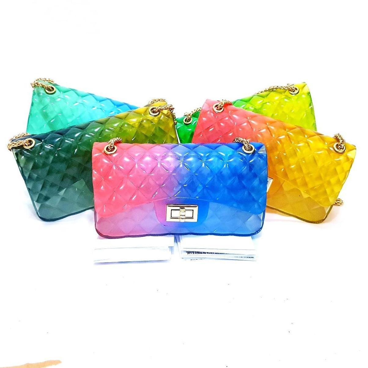 jaya shop tas jelly pelangi 22cm BISA BAYAR DITEMPAT (COD) - tas wanita -