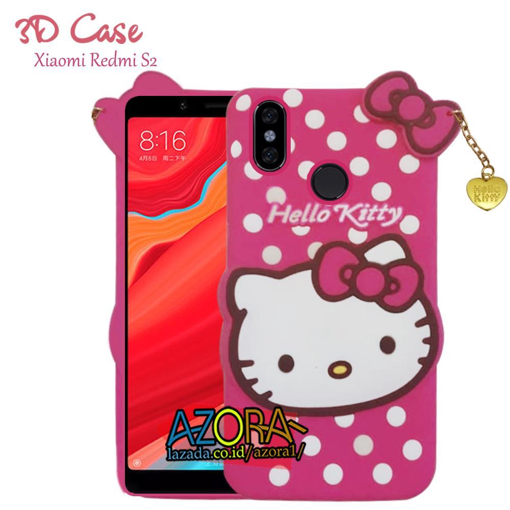 3D Case Xiaomi Redmi S2 Softcase 4D Karakter Boneka Hello Kitty Doraemon Lucu Character Cartoon