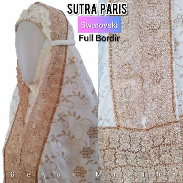 Mukena Sutra Paris Prada Swarovski Full Bordir Elegan | KD milo (KD milo)