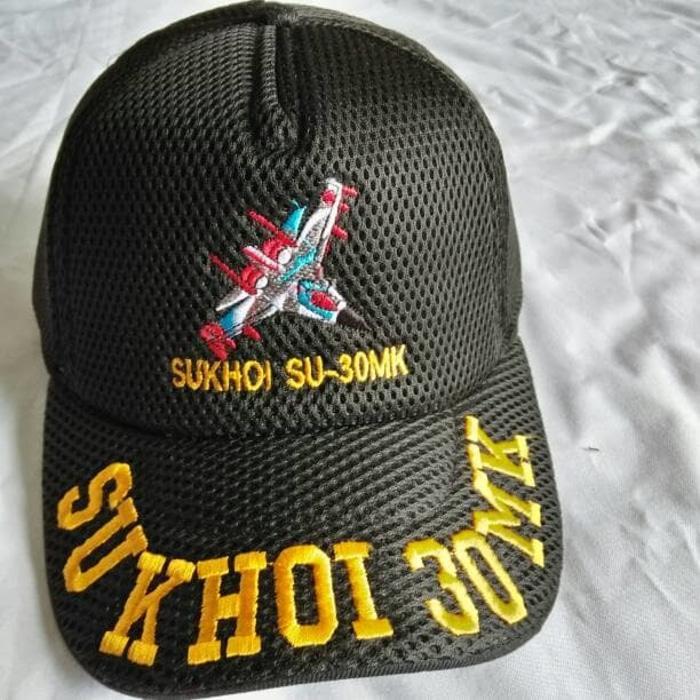 Topi Lapangan Jalames\U002Fjaring Sukhoi 30Mk\U002Fpesawat Full Bordir - ready stoc
