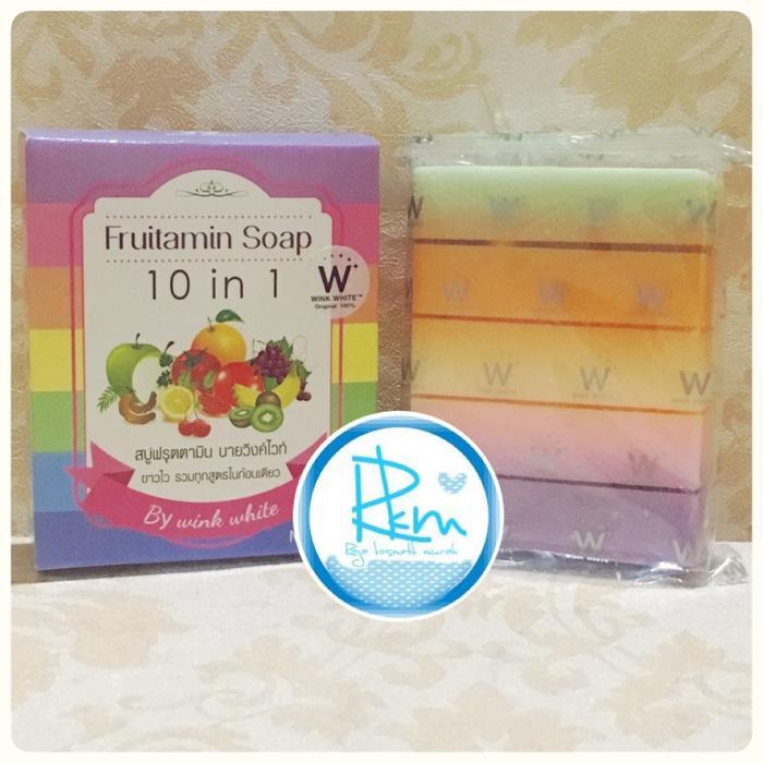 FRUITAMIN SOAP 10 in 1 by WINK WHITE / Sabun Pemutih Badan / Sabun Pencerah Kulit / Sabun Body Cantik / Sabun Pencantik Kulit / Sabun Pemutih Kulit Kusam ...