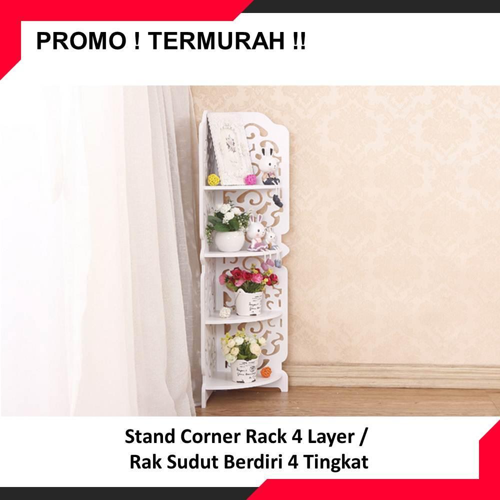 Stand Corner Rack 4 Layer Rak Sudut Berdiri Tingkat Daftar Harga Zehn 9004001800mm Black Buy Sell Cheapest Best Quality Product Deals Indonesian Store