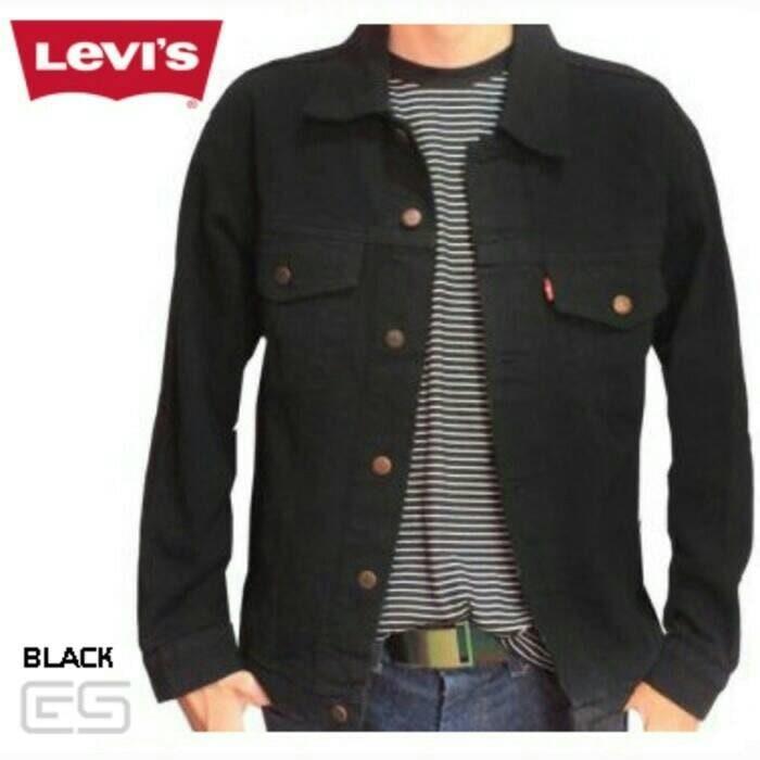 TERLARIS  Jaket Jeans / jaket Denim Levis premium murah (hitam)