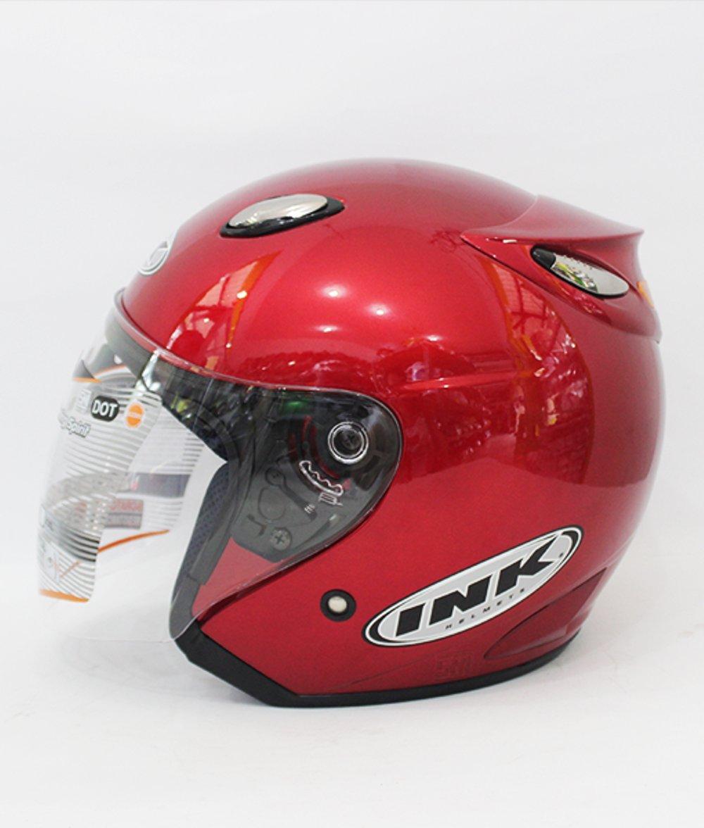 Helm basic ink Centro warna Maroon