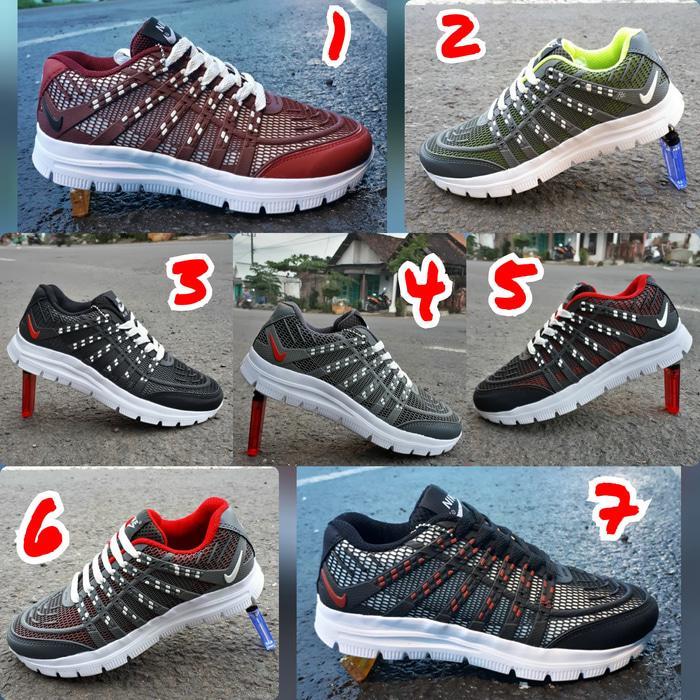 Nike 3D sepatu sneakers jogging vans wakai lari badminton voly pria