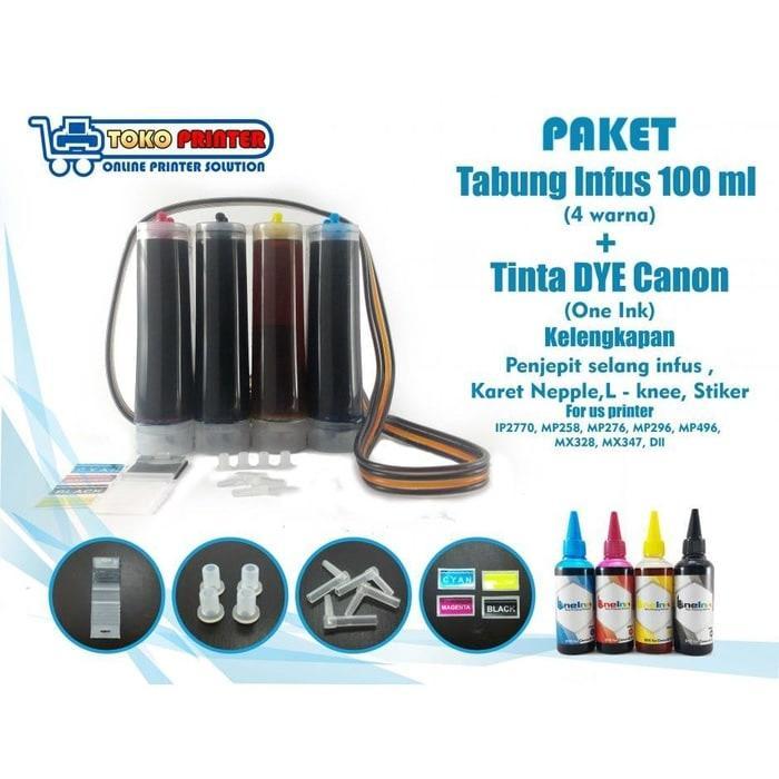 Tabung Infus Printer + Tinta Canon DYE 100ml