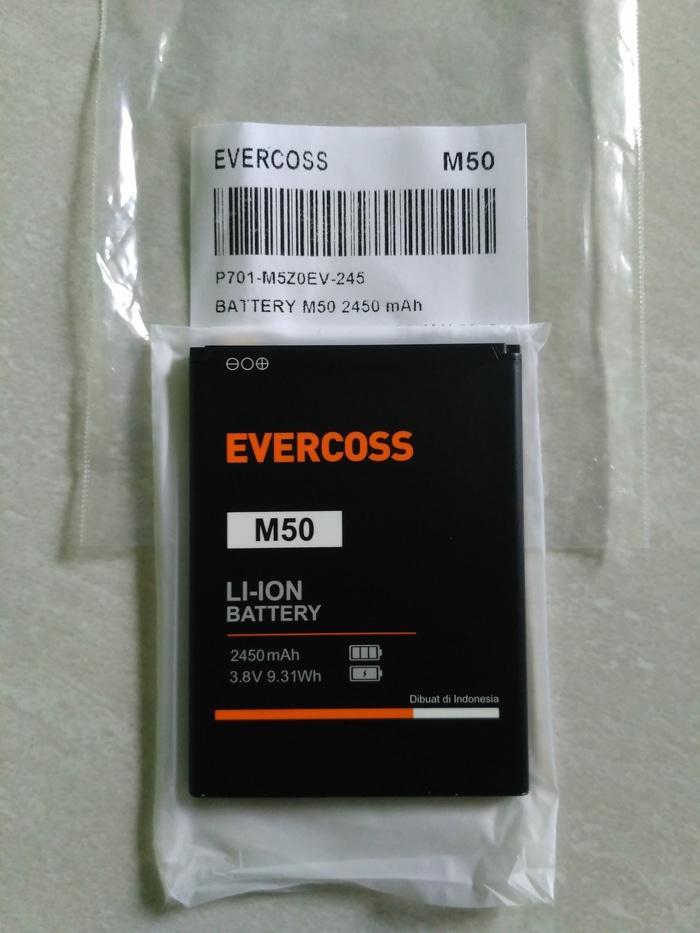 Baterai Evercoss M50 Ori 100%