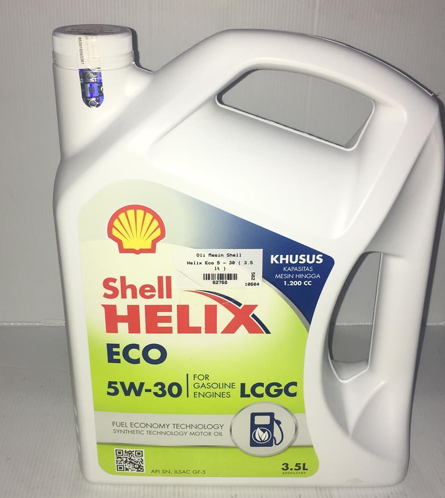 Oli Mesin Shell Helix Eco 5w - 30 3.5 lt -62768-