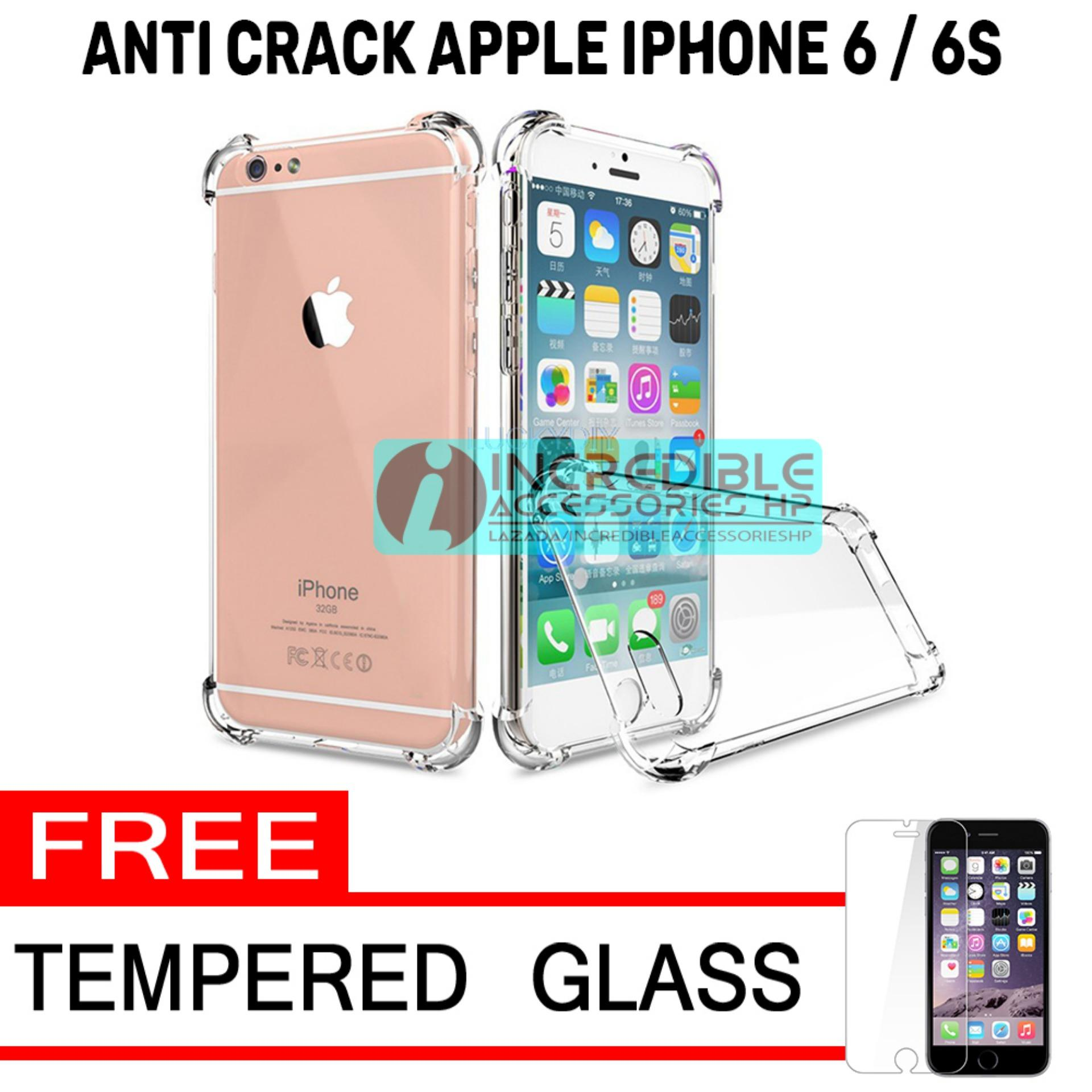 Softcase Silicon Anti Shock / Anti Crack Elegant Softcase  for Apple iPhone 6 / 6s / 6G - White Cle