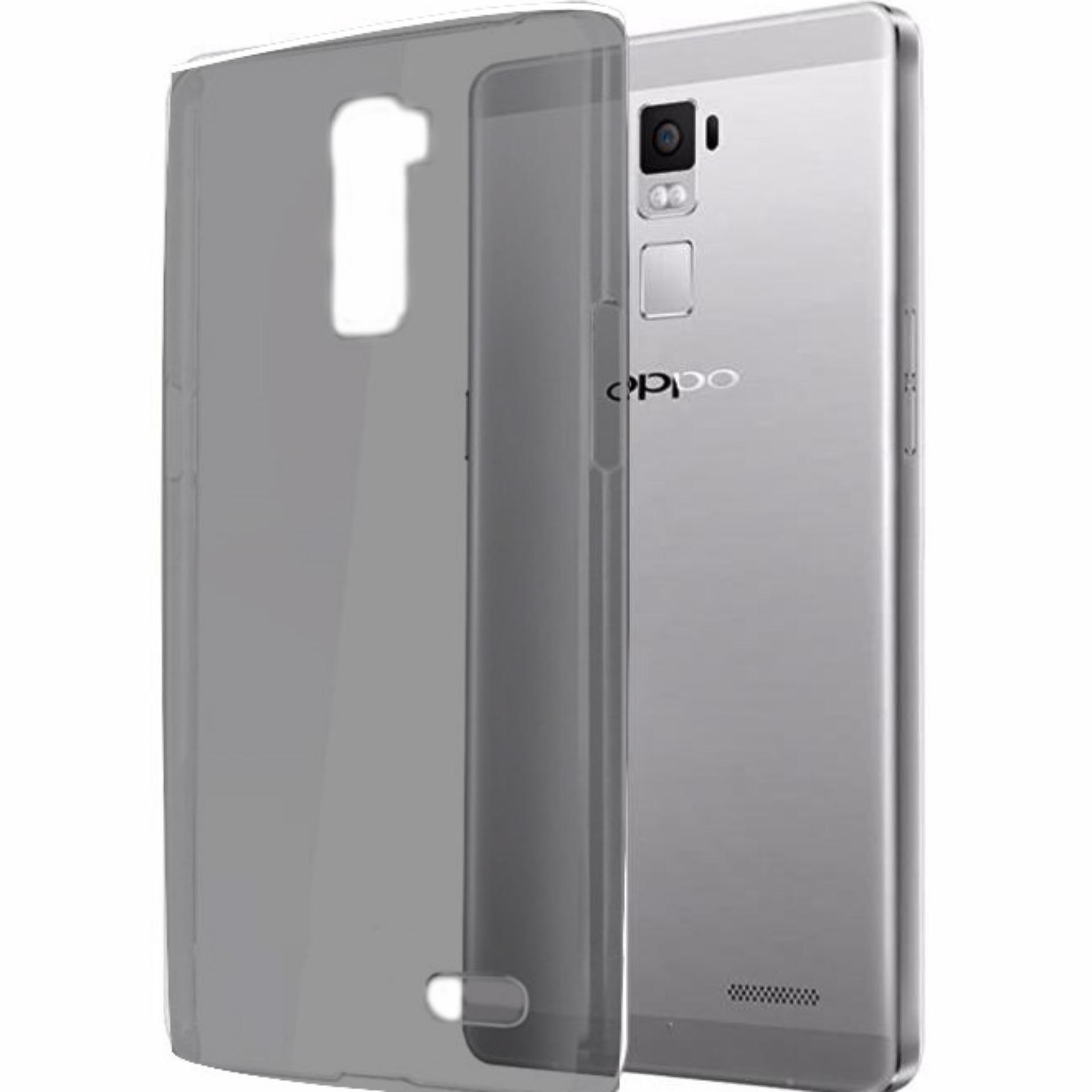 Bendoel Aircase for Oppo R7+ Plus | Softcase Ultrathin Anti Crash - Hitam Transparan