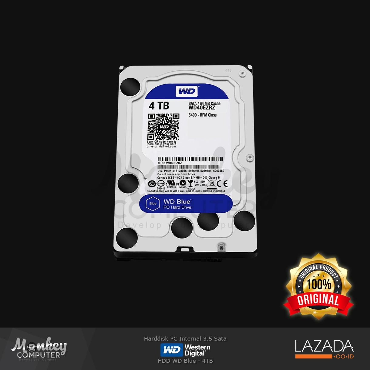 Harddisk Internal WD Blue - 4TB
