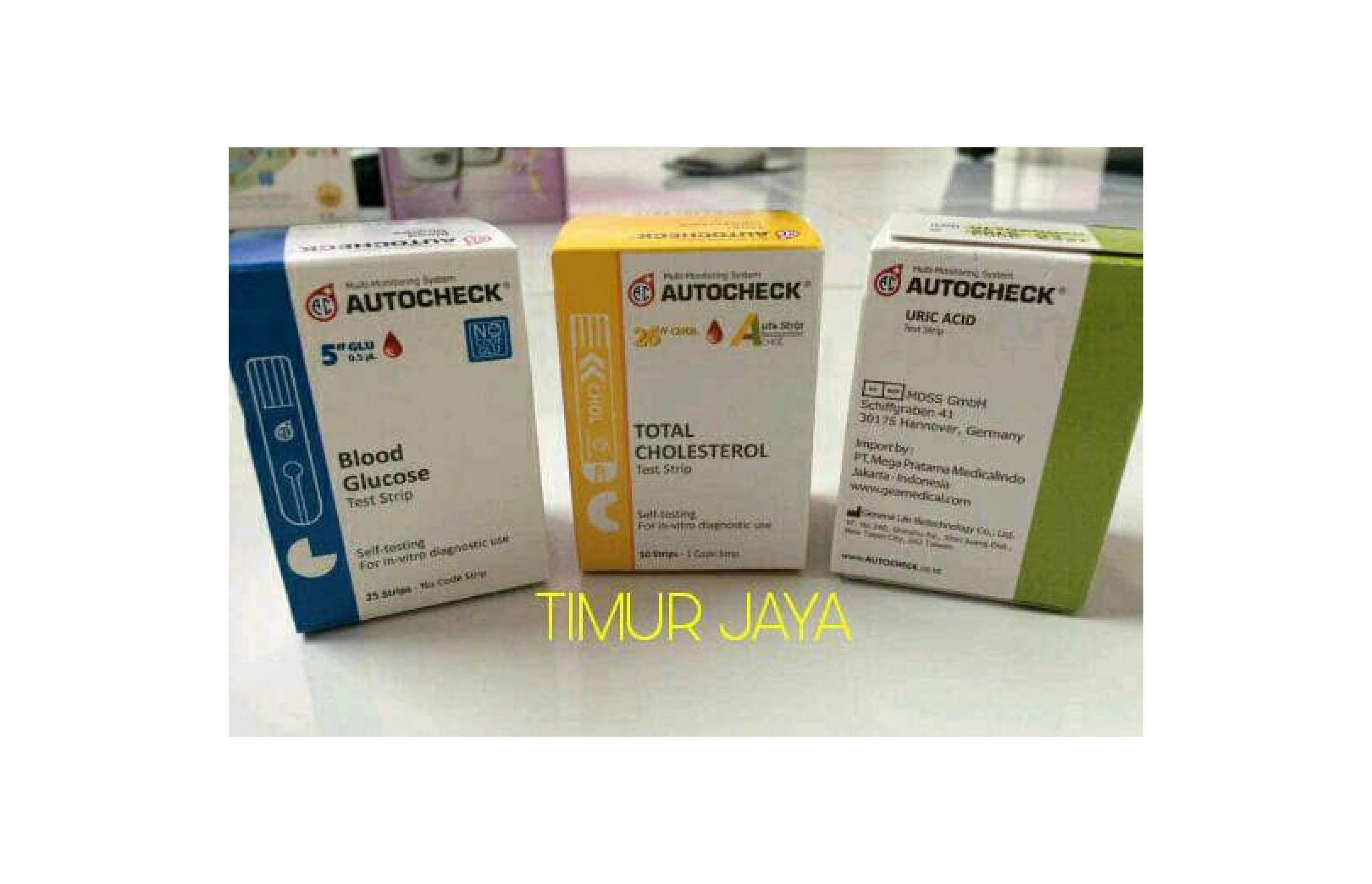Buy Sell Cheapest Paket Refill Autocheck Best Quality Product Cholesterol Strip Kolestrol Gula Darah Asam Urat