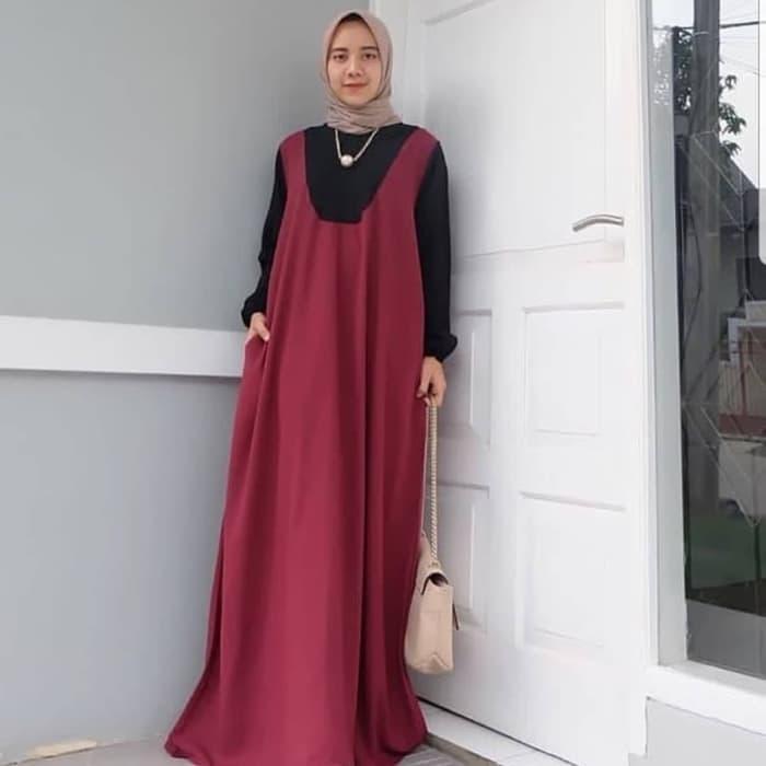 SALE/PROMO/AMILI MAXY MAROON PR001/Jual Dress Muslim Murah/Gamis
