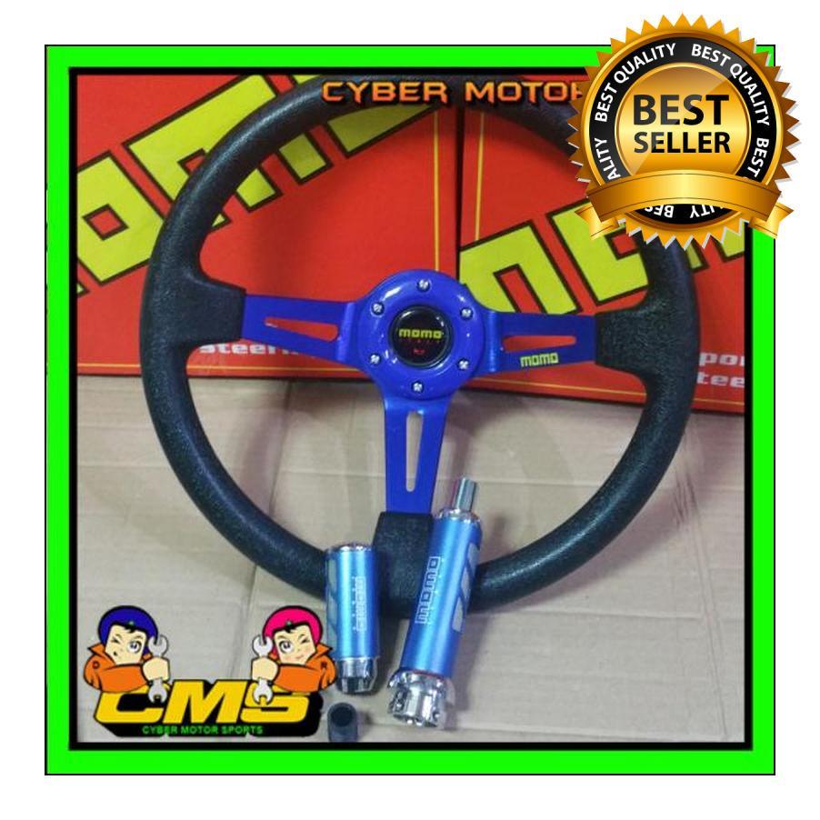 Paket interior momo universal. paket racing momo. stir racing momo. shiftknob racing momo. dll paket gaul b