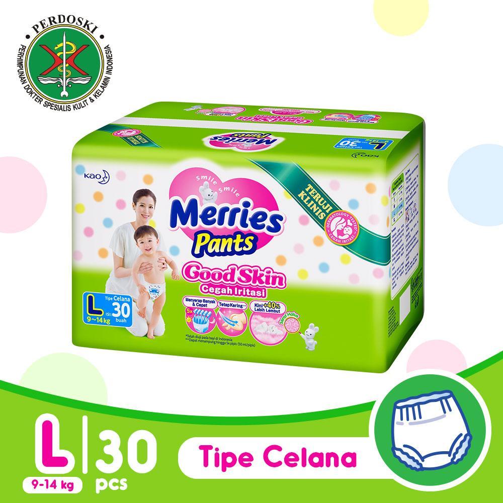Jual Popok Pispot Bayi Terbaik Goon Excellent Dry Premium Tape Super Jumbo Xl Isi 50 Merries Good Skin Pants L 30