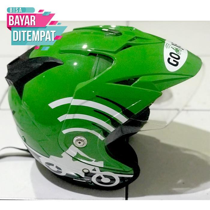 [Promo Best Seller] Helm Ojek Online GO - JEK Kualitas Setara Helm KYT INK GM WTO MSR BMC NHK