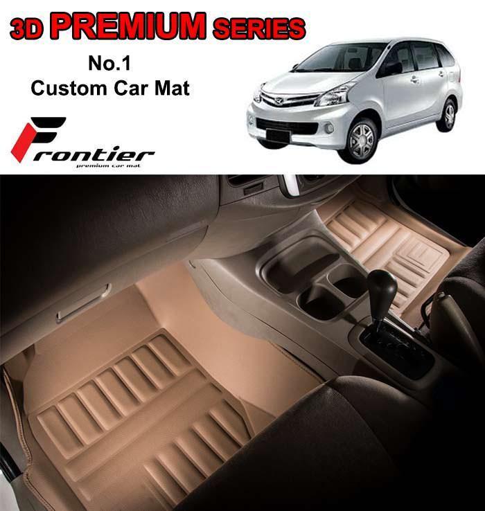 Karpet Mobil 3D Custom DAIHATSU XENIA 2011 - 2016 3 BARIS BEIGE FRONTIER