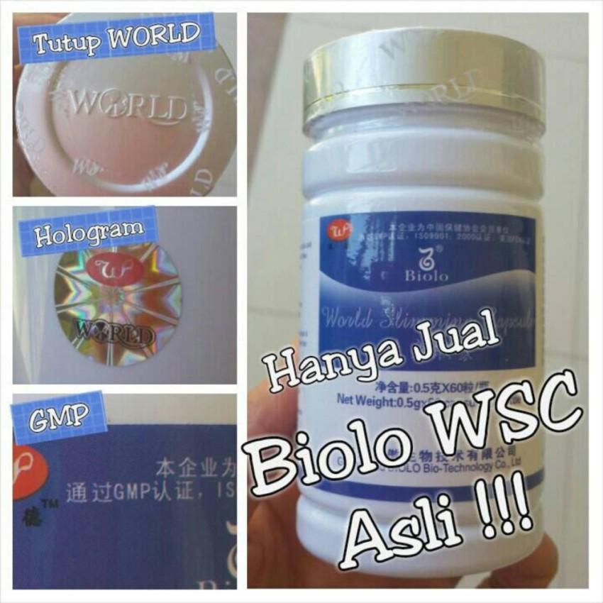 biolo wsc original obat pelangsing badan terbaik turun 5-10kg garansi 100%