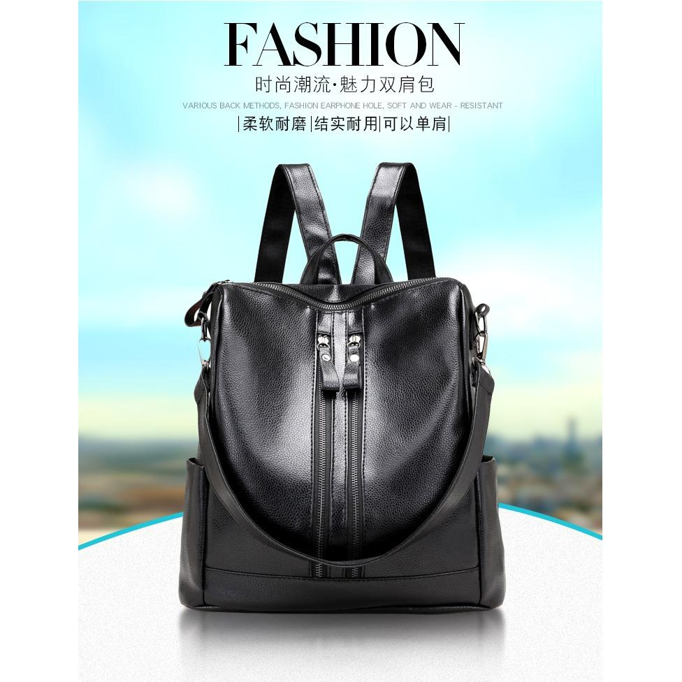 Zelig official Tas Ransel Fashion Wanita Korea Import Backpack Stylish Premium Kulit leather