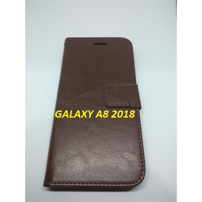 Samsung Galaxy A8 2018 Case Flip Leather Casing Samsung Galaxy A8 Terbaru