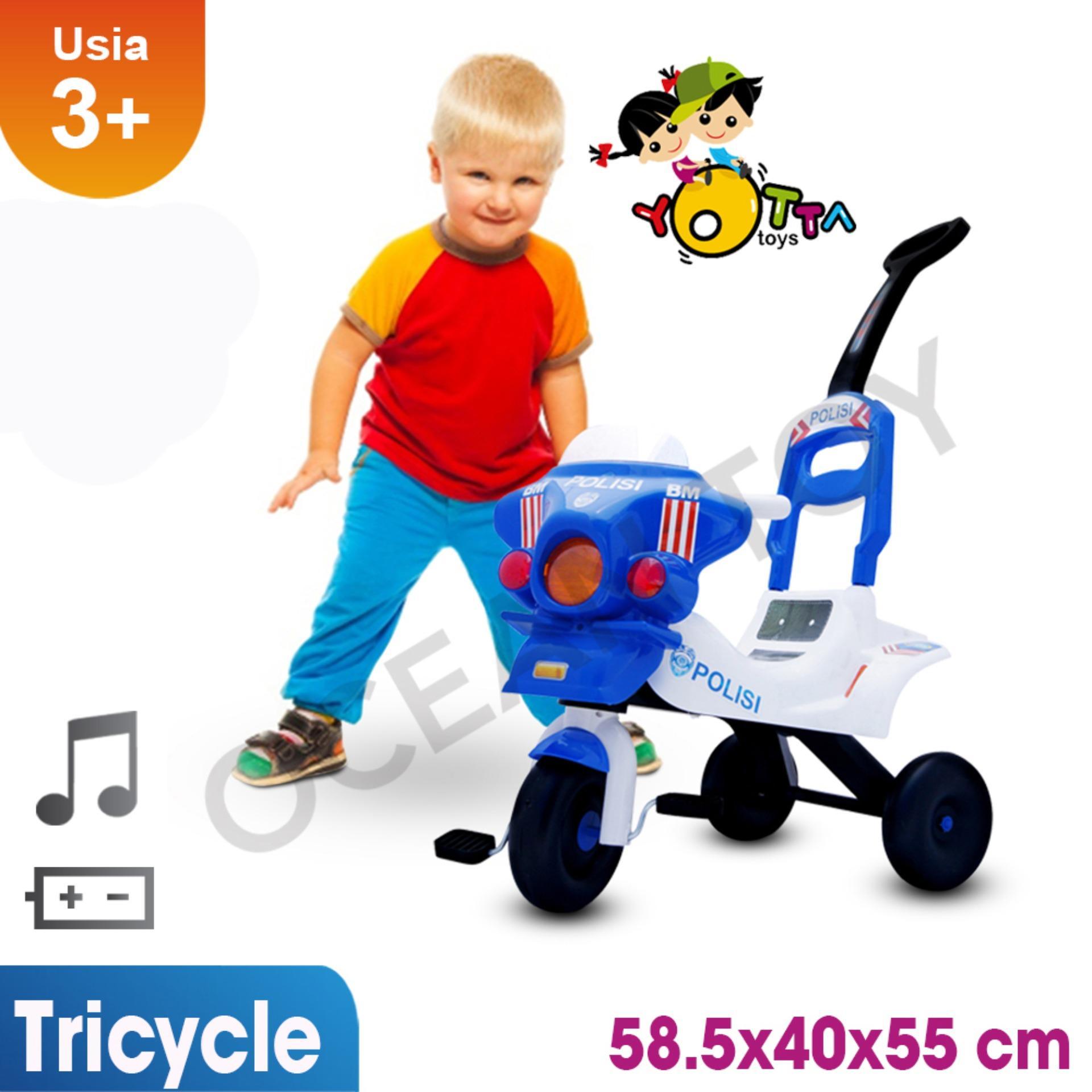 Sepeda Anak / Mainan Anak Sepeda Polisi / Khusus Jabodetabek / Sepeda Anak / Tricycle / Maksimum 30 Kg / Anak Laki Perempuan By Ocean Toy.