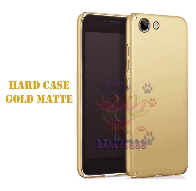 Case Oppo A73 Hard Slim Black Mate Anti Fingerprint Hybrid Case Baby Skin Oppo A73 Baby Soft Oppo A73 Hardcase Oppo A73 Plastic Back Cover / Casing Oppo A73 / Case Oppo A73 - Gold / Emas