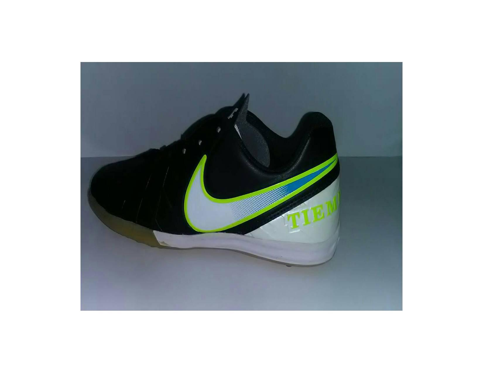 Sepatu futsal Nike Tiempo ACC Hitam putih hijau/Kw super /murah meriah