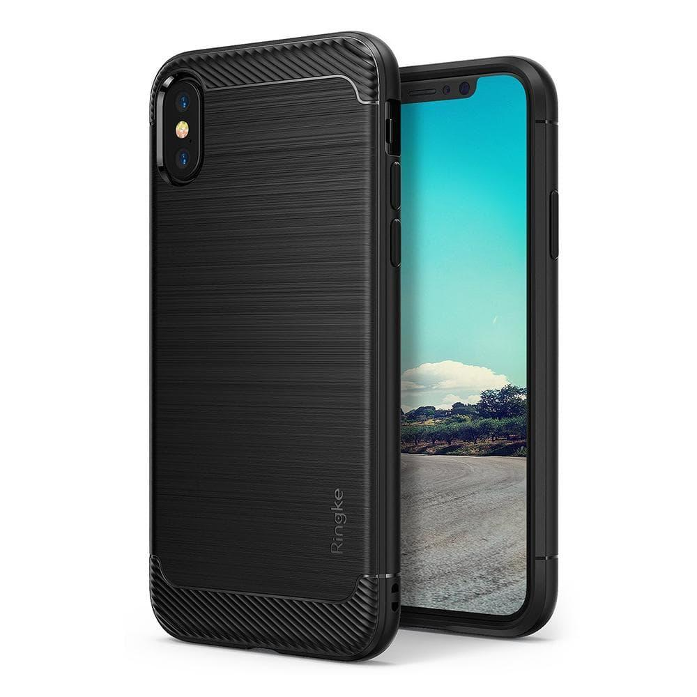 Rearth Ringke Onyx Softcase iPhone X Case Casing Cover - Black