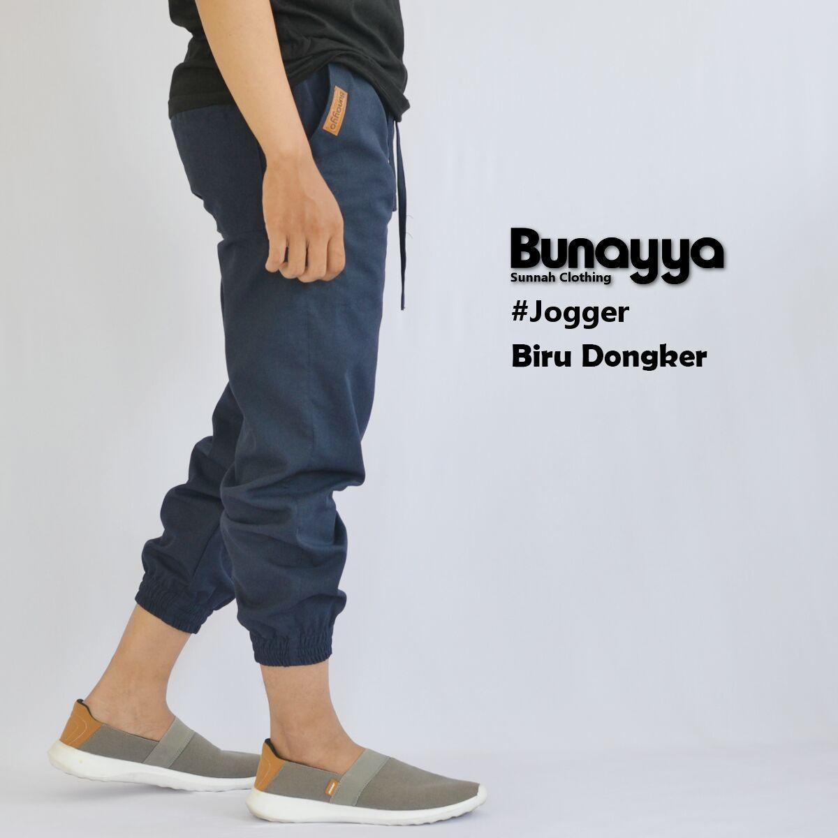Buy Sell Cheapest Sirwal Bunayya Celana Best Quality Product Deals Laa Isbaal Jogger Pants Original Panjang Pria Joger Warna Coklat Hitam Dan Dongker