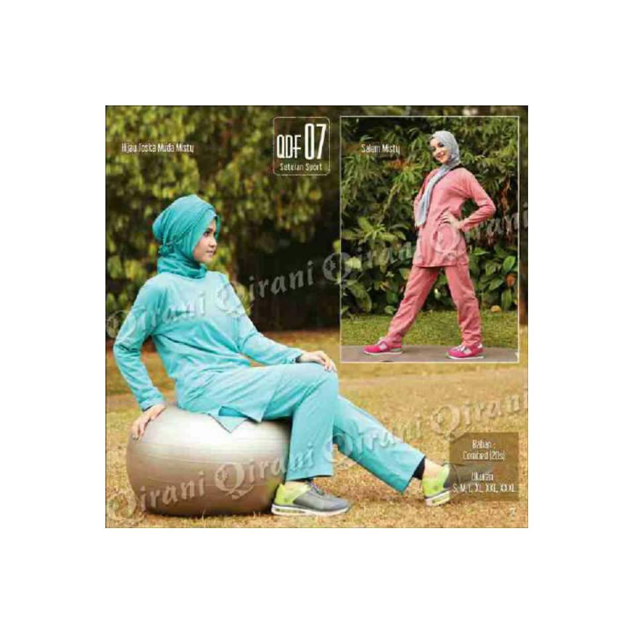 Stelan Olahraga Wanita/Baju Senam Muslim/Baja Erobik/qiranigdq 07