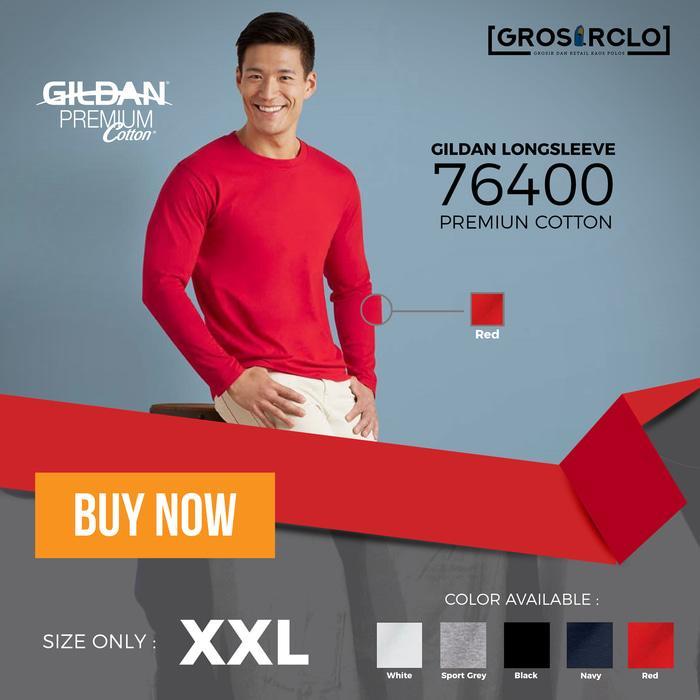 kaos polos gildan premium long sleeve original murah jakarta 2XL - TrDF0J