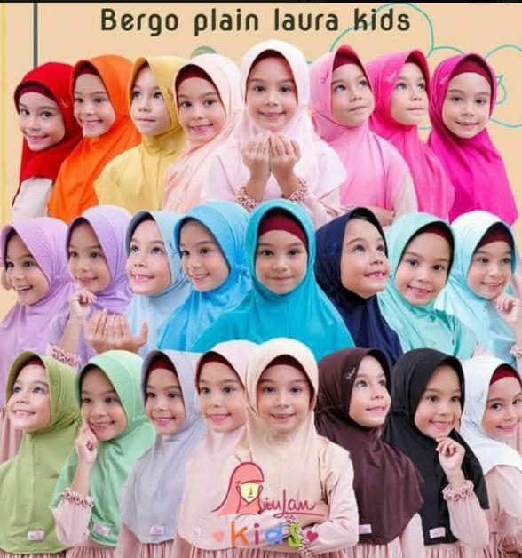 Bergo Anak Plain Laura Kids
