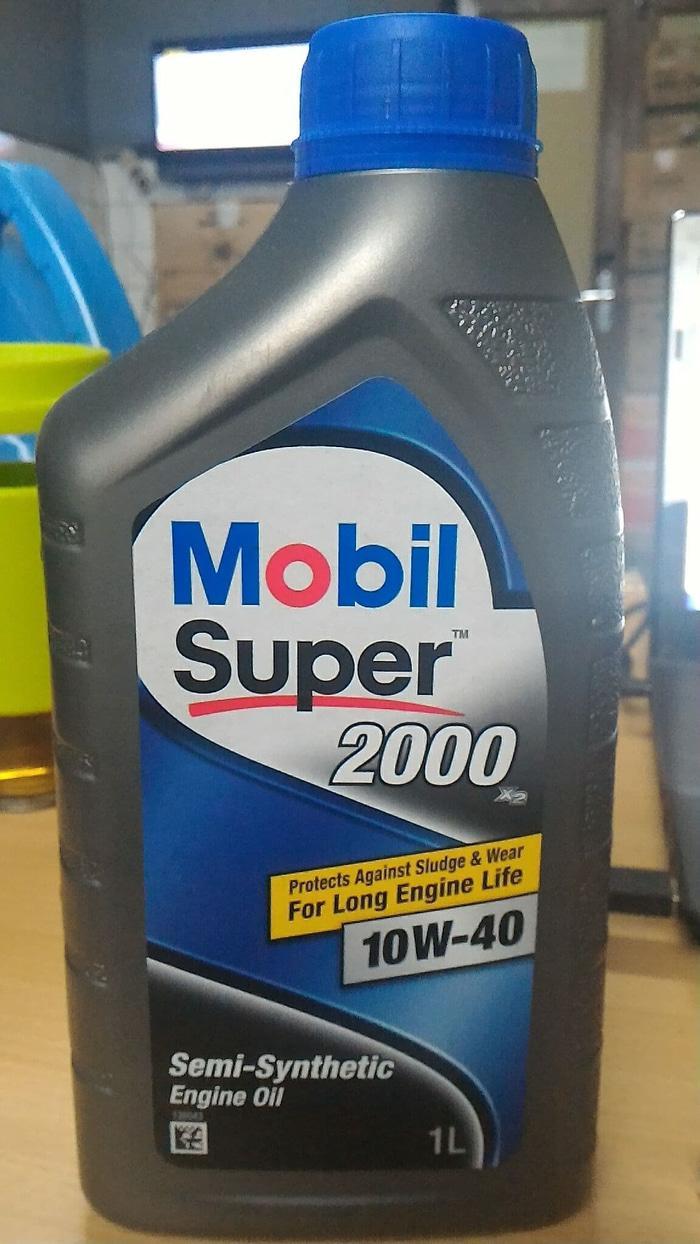 Oli Mobil super 2000 SAE 10W40 API SN 1 liter