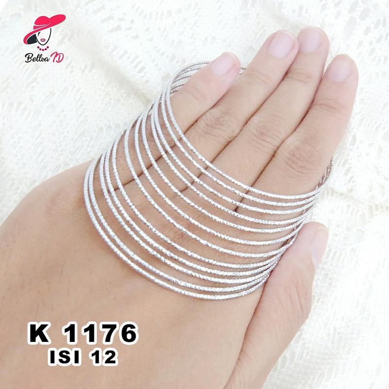 Perhiasan Gelang Keroncong Wanita Silver K 1176