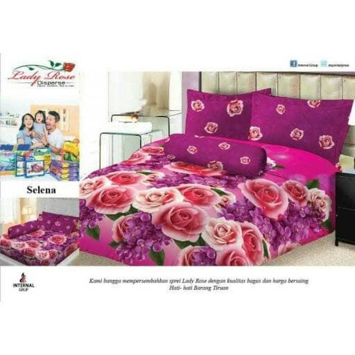Ss Sprei Lady Rose Internal 180 Selena 180x200 King Size No.1 Murah Motif Bunga