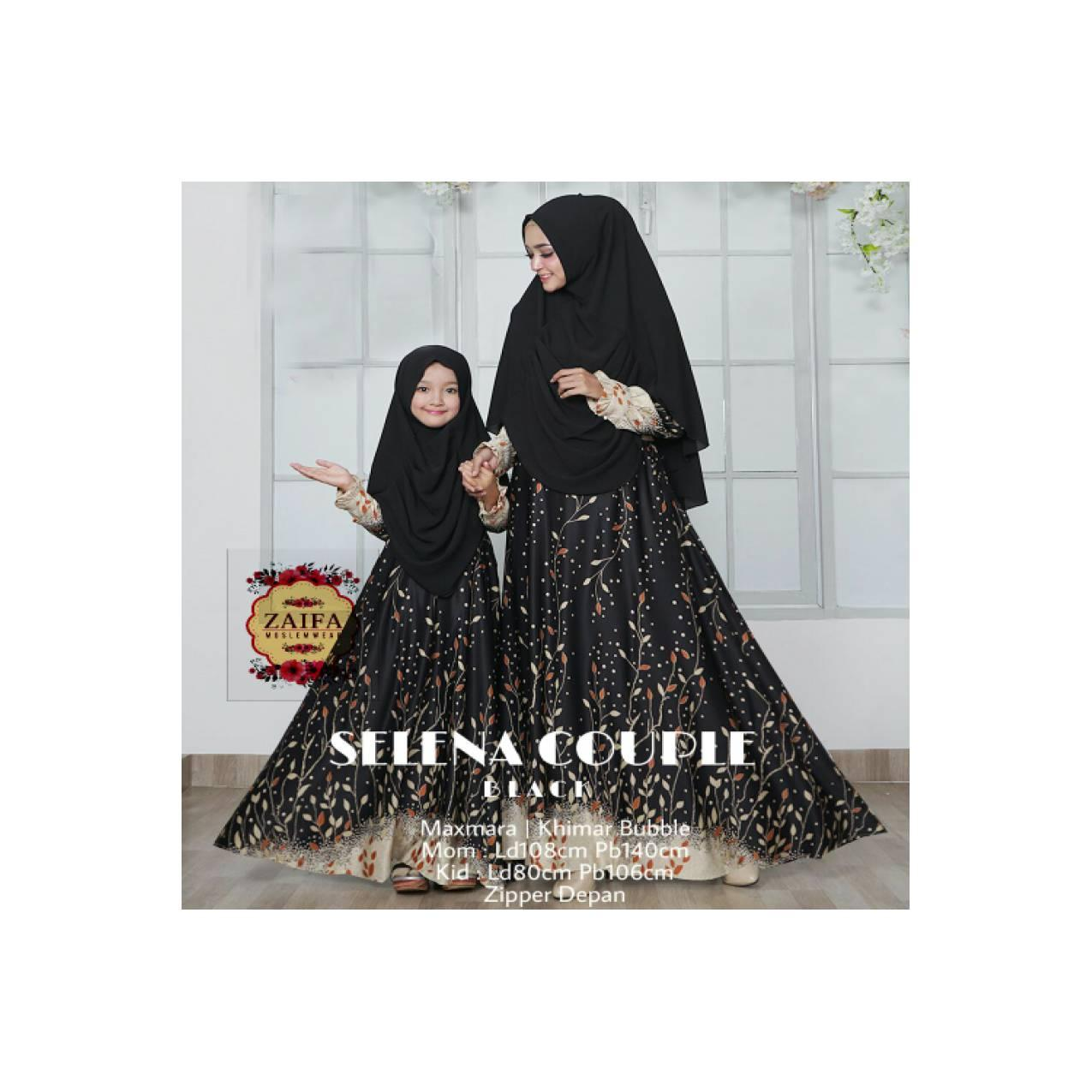 couple gamis dan jilbab syar i ibu dan anak mewah elegant baju musli