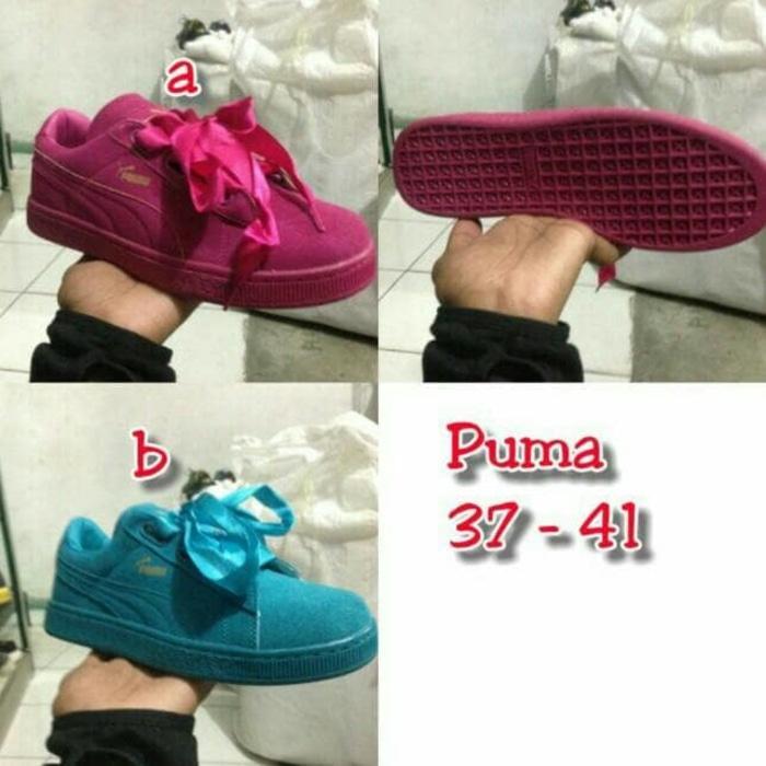 Sepatu Fashion Wanita Puma Rihanna Fenty X Bow Import Quality